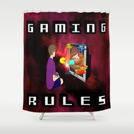 Gaming Rules Shower Curtain