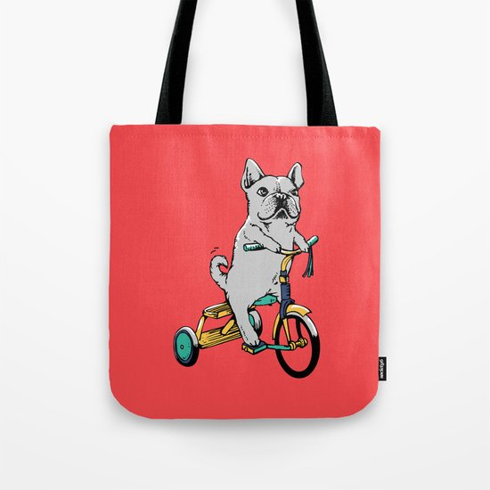 Frenchie Ride Tote Bag