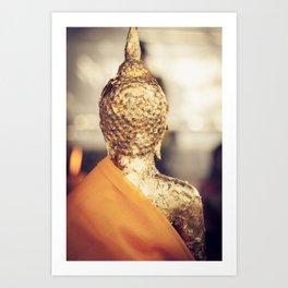 Buddha the other side Art Print