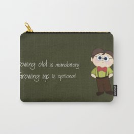 Growing up and growing old a birthday nerdy cute kid illustration Carry-All Pouch