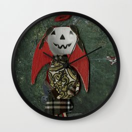 pumpkin girl Wall Clock