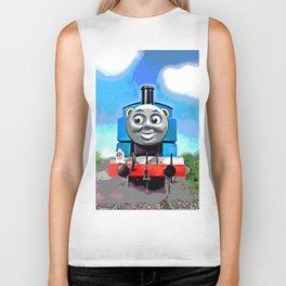 Thomas Has A Smile Biker Tank