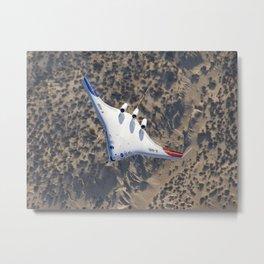 848. X-48B Banks over Desert Backdrop Metal Print