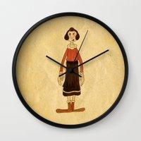 popeye Wall Clocks featuring Olive Oyl by Celine Billy