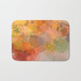 Modern contemporary Yellow Orange Abstract Bath Mat
