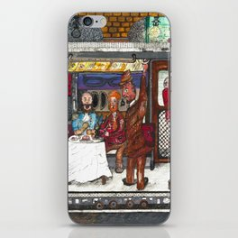 Fine Dining on the Subway iPhone Skin
