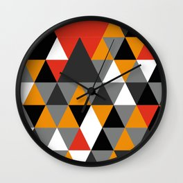 Colorful rombs pattern Wall Clock