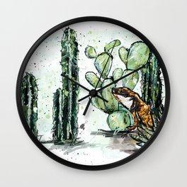 Cactus Horizontal Wall Clock