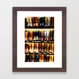 Boots on Boots Framed Art Print