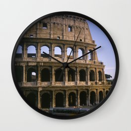 The Colosseum in Rome. Wall Clock