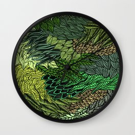 Leaf Cluster Wall Clock