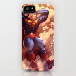 Superman (The Man of Steel ) Day Off iPhone Case