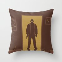 breaking bad Throw Pillows featuring Breaking Bad by Brandon Riesgo