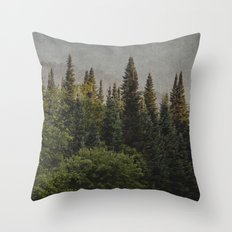 trees and texture Throw Pillow