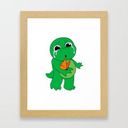 Little Dinosaur, Big Feelings (Flutter) Framed Art Print