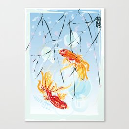 FISH FENG SHUI Canvas Print