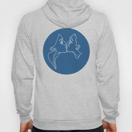 Kissing Lines no 2 Hoody