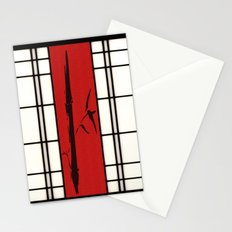 Shoji with bamboo ink painting Stationery Cards