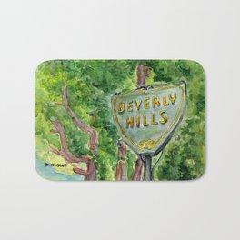 Beverly Hills Street Sign Bath Mat