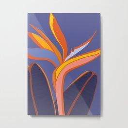 Bird Of Paradise Tropical Flower Metal Print