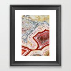 Marble Red Framed Art Print