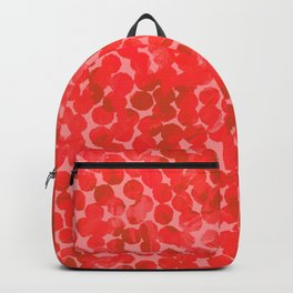 Coral Red Dots Backpack