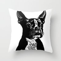 mother Throw Pillows featuring Mother by John C Thurbin