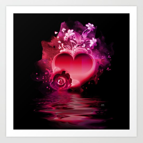 Flooding Heart Art Print