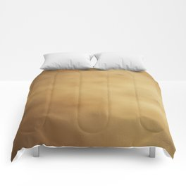 Modern elegant abstract faux gold gradient Comforters