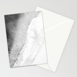 Waves in beach Stationery Cards