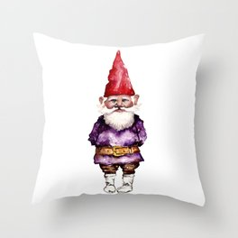 Alfred the Gnome Throw Pillow