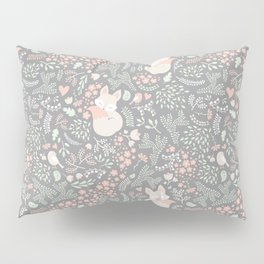Sleeping Fox - grey Pillow Sham