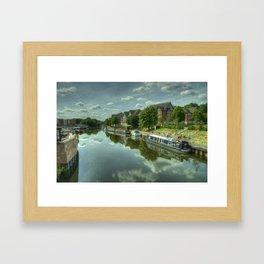 River Weaver at Northwich Framed Art Print