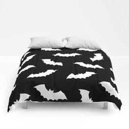 Black & White Bats Pattern Comforters