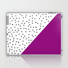 Geometric grey and purple design Laptop & iPad Skin