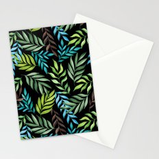Tropical leaf pattern. Watercolor Stationery Cards