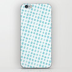 Watercolor Squares Blue iPhone & iPod Skin