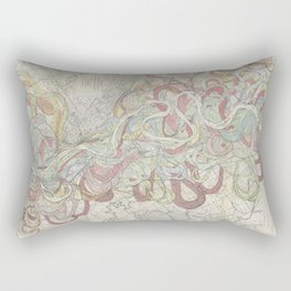 Beautiful Map of the Lower Mississippi River Rectangular Pillow