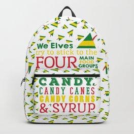 Elves food Groups - Elf the movie Backpack