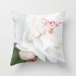 Bashful Peony Throw Pillow