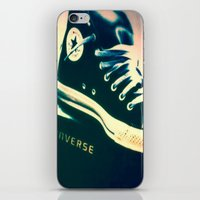 sneakers iPhone & iPod Skins featuring Converse Sneakers by Tyland Creations