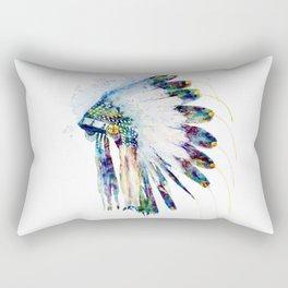 Indian Colorful Headdress Rectangular Pillow