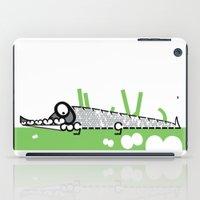 crocodile iPad Cases featuring Crocodile by Josè Sala