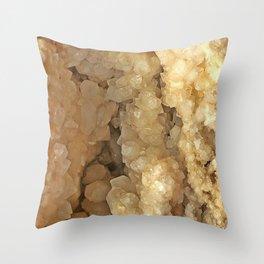Milk Quartz Geode Throw Pillow