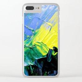 Emerald Sunrise Clear iPhone Case