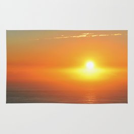 Sunrise over South Pacific Ocean Rug