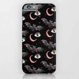 halloween bat pattern iPhone Case