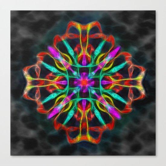 Vibrant shield decoration Canvas Print