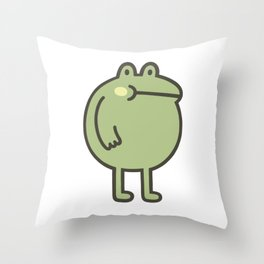 Awesome Frog Throw Pillow