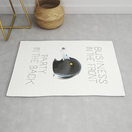Business In The Front, Party In The Back (Tufted Duck) Rug